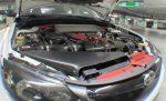 2009 Subaru Impreza WRX STi Stream CF Air Intake Scoop & Mirrors by Scopione