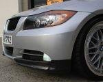 BMW 4 Door 3 Series E90 Pre-LCI Carbon Fiber Splitters, Spoiler, Mirror Covers & Matte Grille 2