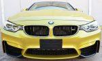 BMW M4 F82 Carbon Fiber Splitters by Scopione