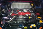 Subaru Impreza WRX STi Carbon Fiber Alternator Cover by Scopione 2